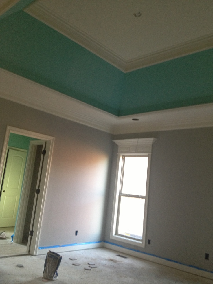 Bedroom. Pitter Patter by porter paints and grey stone by porter paints