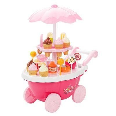 Pretend Snacks Sweets Food Ice Cream Cart Children Girls Role Play Game Toys. #Pretend #Snacks #Sweets #Food #Cream #Cart #Children #Girls #Role #Play #Game #Toys
