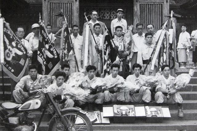 Welcome to Akio Kitano's World  1956年富士登山レース  (第4回大会で1位~8位を独占したヤマハチーム)
