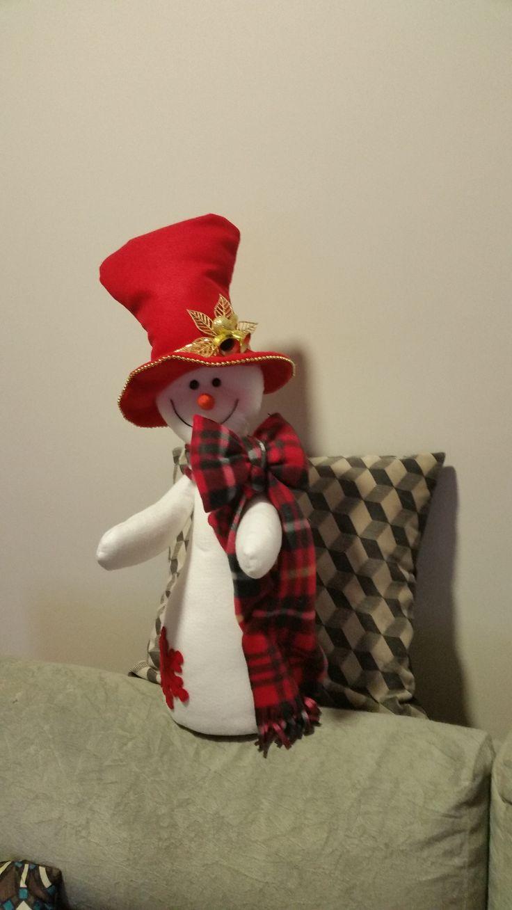 Boneco de neve em feltro.