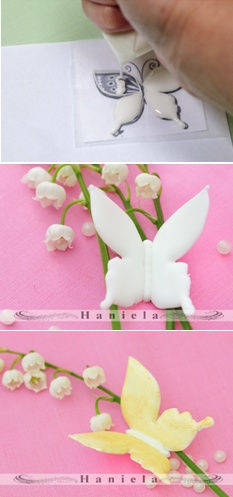 How to make royal icing butterflies (Haniela's).