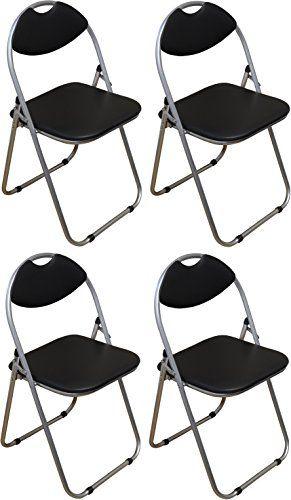 Harbour Housewares Black Padded, Folding, Desk Chair - Pack of 4 Harbour Housewares http://www.amazon.co.uk £29.99