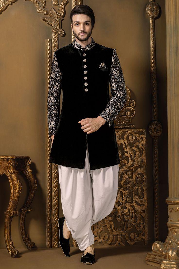 Samyakk Black & Silver Shewani @Looksgud.in #Samyakk, #Black, #Silver…