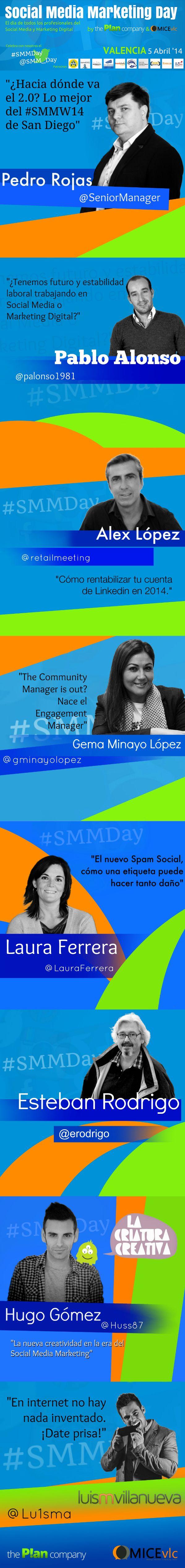 Nuestros ponentes del #SMMDay de Valencia. ¡Ya queda poco!