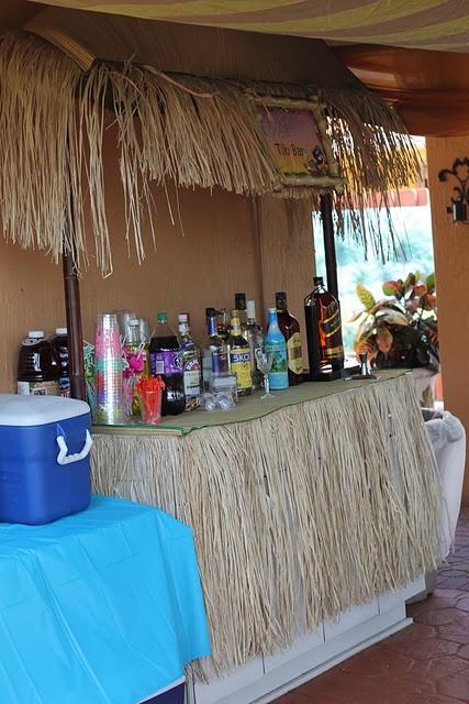 Tiki Bar for Luau themed party