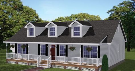 This charming 4-bedroom ranch style home has simple clean lines and an expansive front covered porch which adds grace and a touch of county. House Plan # 731058.