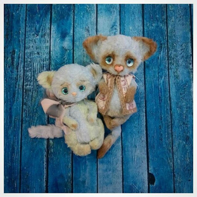Новые котофеи с нашими глазками от Веточки Цвета!  https://www.instagram.com/vetochkazveta/  http://www.livemaster.ru/zaznak   #adelkawalka #handmade #glasseyes #fortoys #fordolls #taxidermy #teddybear #bjd #furry #стеклянныеглазки #стеклянныеглаза #глазкидляигрушек #ручнаяработа