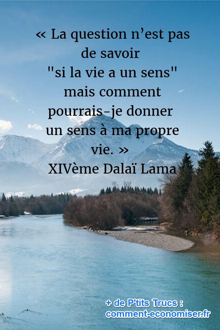« La question n'est pas de savoir si « la vie a un sens » mais comment pourrais-je donner un sens à ma propre vie. » XIVème Dalaï Lama