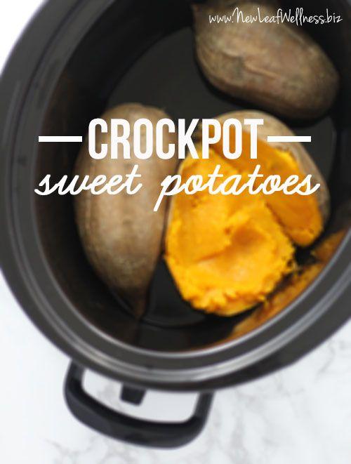 My favotire way to cook sweet potatoes. Crockpot Sweet Potatoes