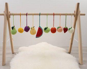 Marco de bebé de madera amplio gimnasio, plegable play gimnasio, gimnasio de actividad neutro, barra de colgar, barra de gimnasia de juegos de bebé, madera, no tóxico, orgánico