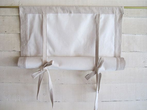 "Cotton Canvas 48"" Long Swedish Roll Up Shade Stage Coach Blind"