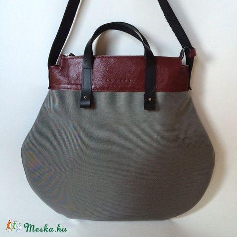 Körte design táska bőr-textil (hegymegigabi) - Meska.hu