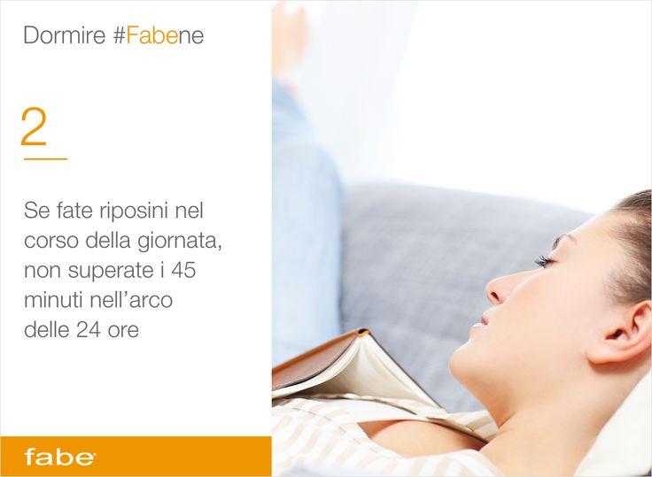 Se fate riposini nel corso della giornata, non superate i 45 minuti nell'arco delle 24 ore #dormire #bene #consigli #fabe