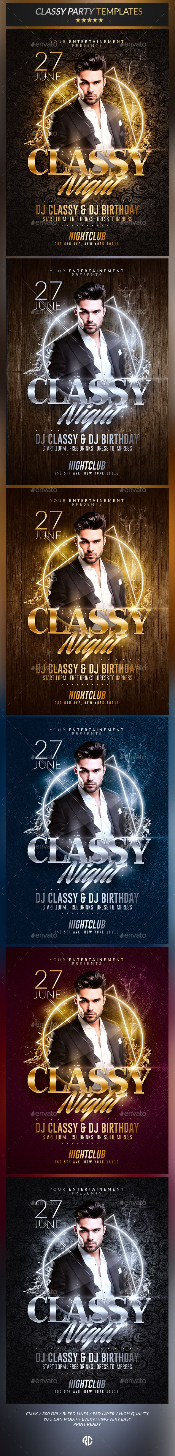 Classy Night Party | Psd Flyer Templates