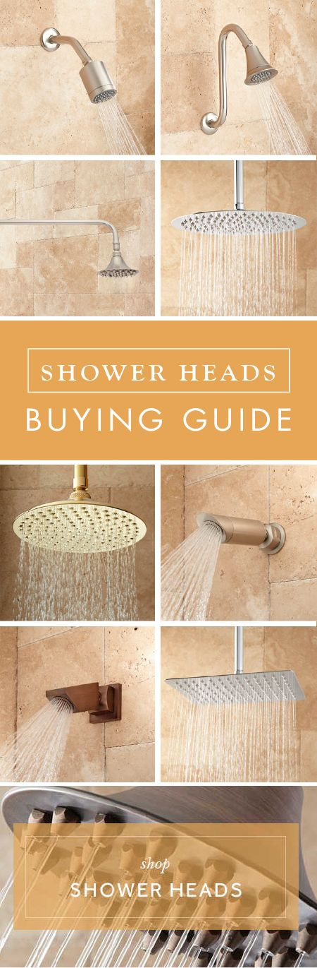 Renovating your master bathroom? Find the perfect piece for your shower with this Shower Heads Buying Guide. Whether you choose a ceiling mount or waterfall design, you are sure to find the fixture that matches your style and needs.