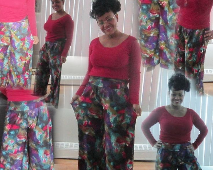 DIY Palazzo Pants with or without waistband