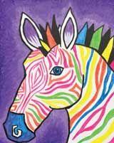 Zebra canvas painting