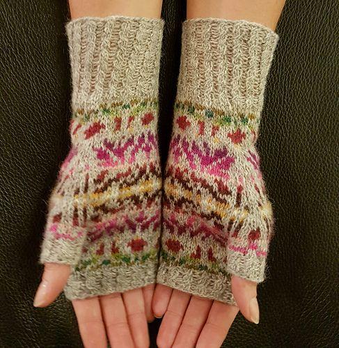Riyadh meets Lerwick #knitting #pattern #mittens #fair #isle
