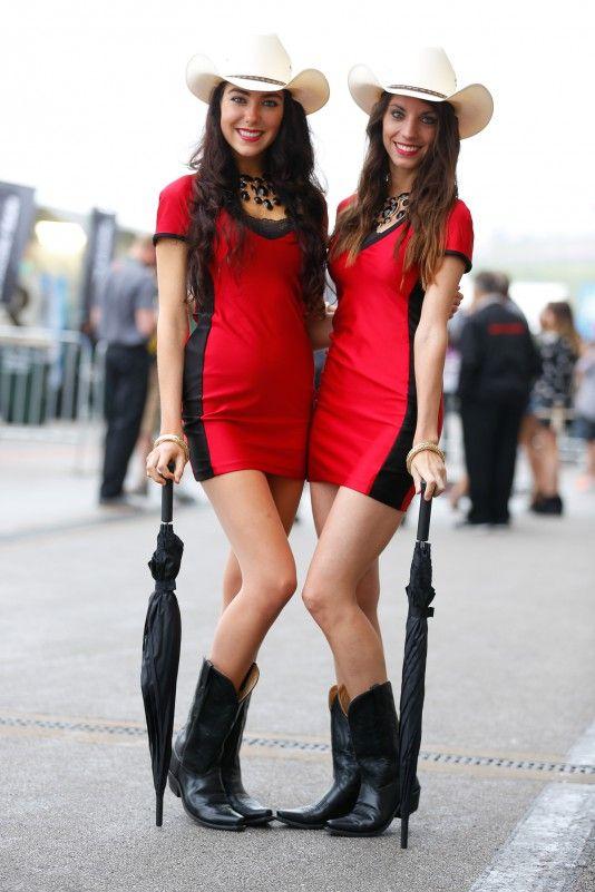 Umbrella Girl MotoGP Amerika