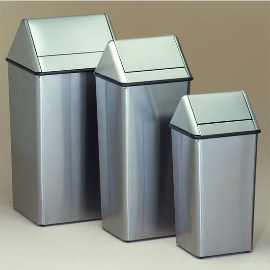 Trash Cans, The Handsome Stainless Steel Waste Watchers Trash Cans By Witt  Are The Perfect