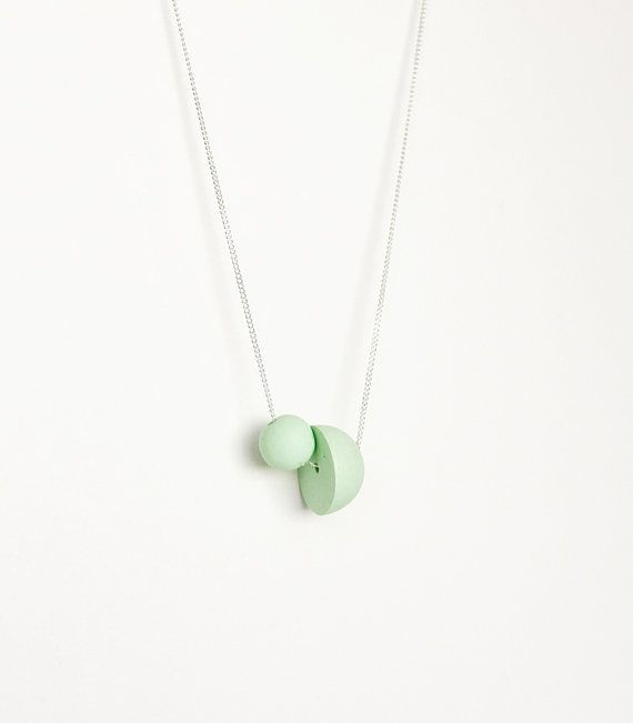 mint spheres necklace | AMM Jewelry