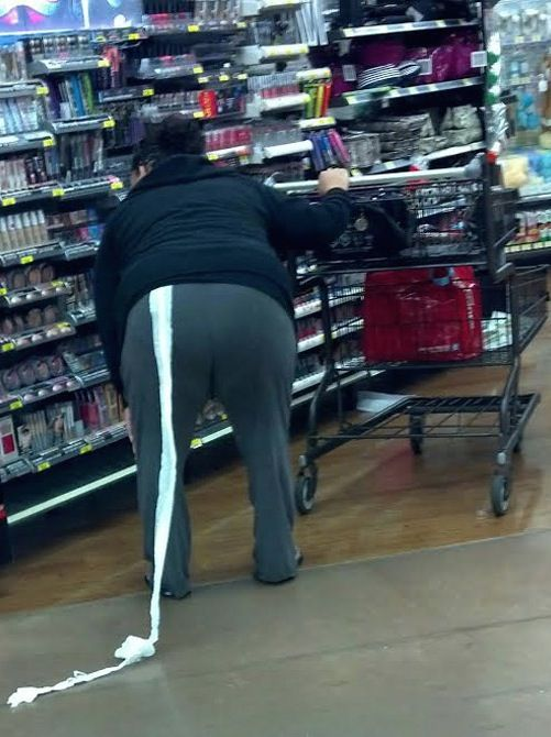 She's on a Roll - Toilet Paper at Walmart - Bathroom Fail - Funny Pictures at Walmart