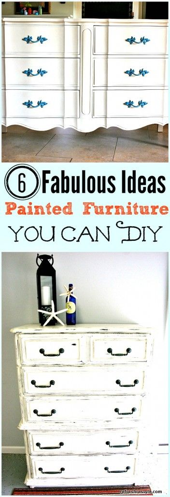 Dresser Makeovers {Six Ideas} - Refresh Restyle #diy #decor #paintedfurniture