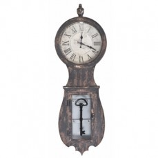 Wood Wall Clock With Key Holder    $72.00@http://antiquefarmhouse.com/current-sale-events/shabby-luxe.html?utm_source=AntiqueFarmHouse_campaign=cedcab0618-%7BSHABBY+LUXE%7D++-+11.7.12_medium=email