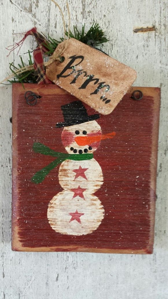 710 best images about crafts christmas primitive on pinterest - How to make a snowman out of wood planks ...