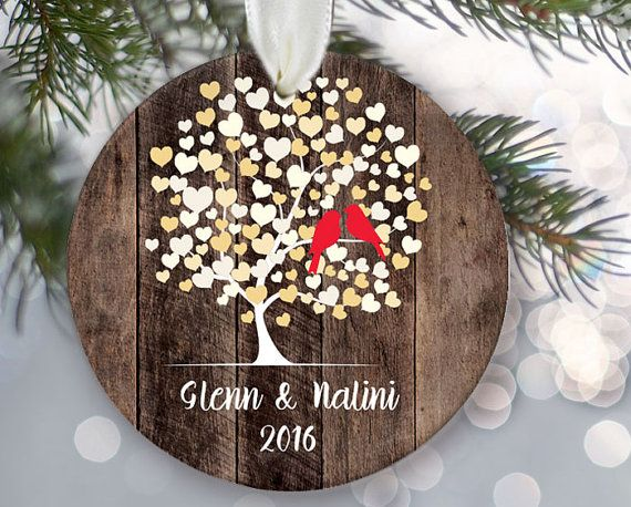 17 best images about personalized christmas ornaments on for Engagement christmas tree ornaments