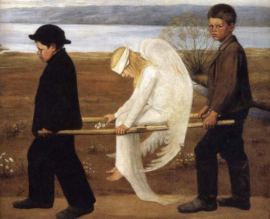 Simberg Hugo (1873-1917) L'Ange blessé