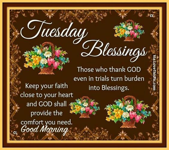 Tuesday Blessings Quotes Pictures Facebook Tuesday Blessings Good