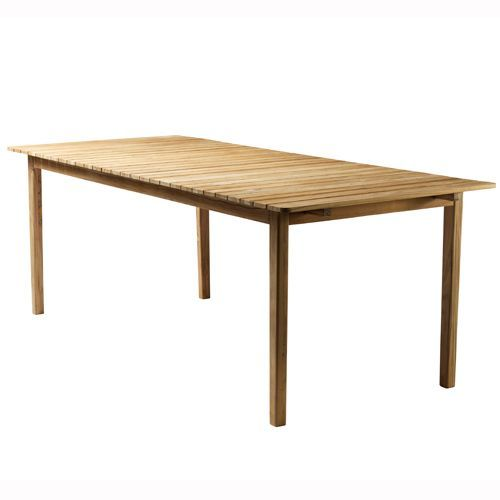 Spisebord C201b – 6-8 personer – Natur teak Sammen havemøbler i dansk design fra FDB Møbler - Coop.dk