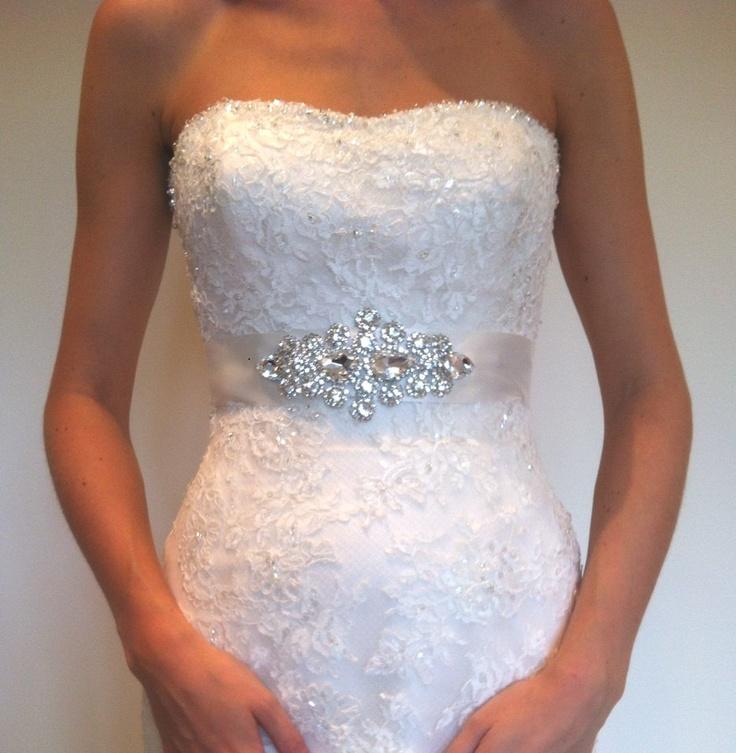 Bridal Sash, Wedding Belt - Lillie. $89.99, via Etsy.
