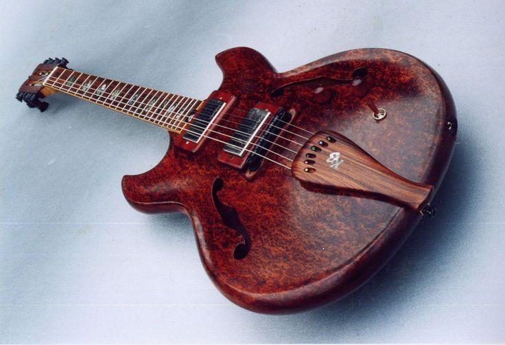 Ken Bebensee Redwood Burl full-hollow body electric / acoustic arch-top