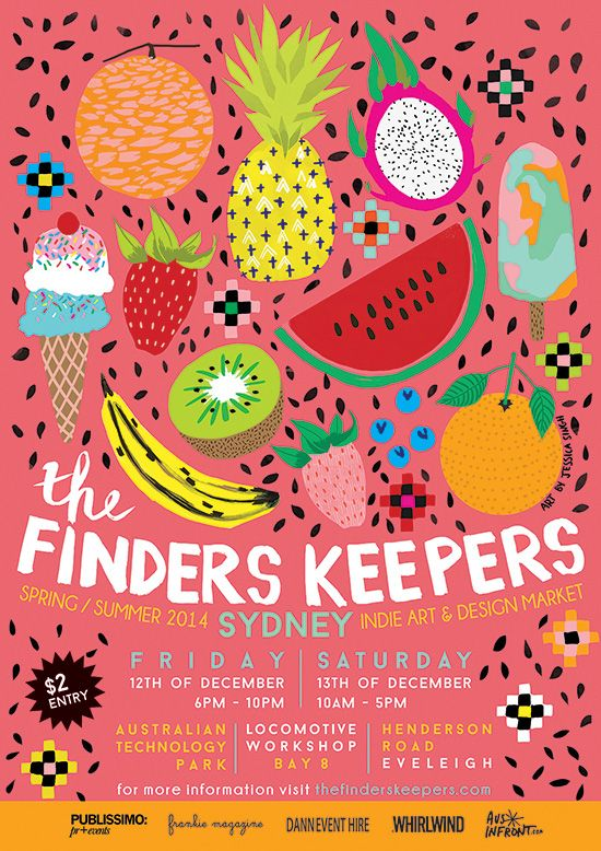The Finders Keepers | Sydney SS14 Markets | artwork by Jessica Singh Illustration
