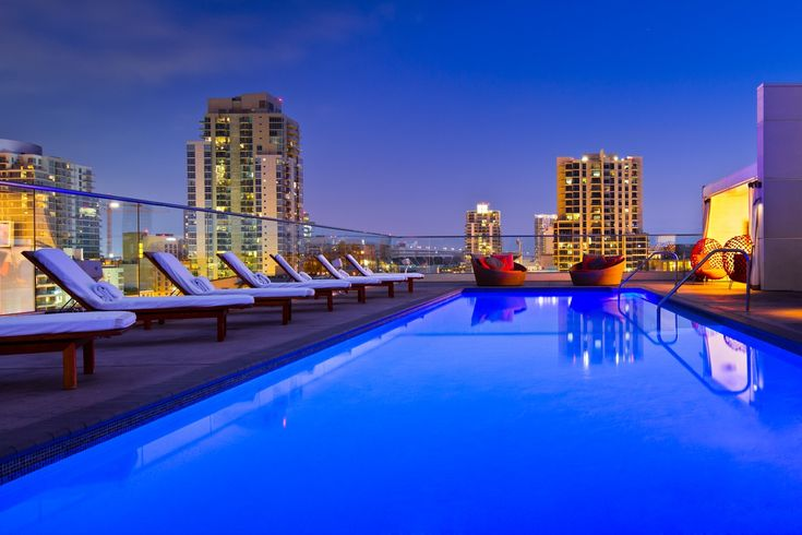 Take in panoramic views of the city from Andaz San Diego's rooftop pool.