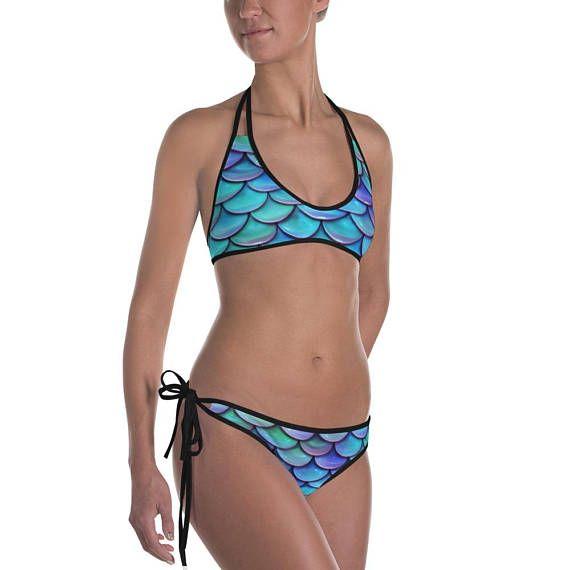 eb5b8feaf105e Items similar to Mermaid Bikini, Mermaid Swimwear, Mermaid Swimsuit, Mermaid  Scales Bikini, Mermaid Beach Wear, Mermaid Lover Gift, Reversible Design  Bikini ...