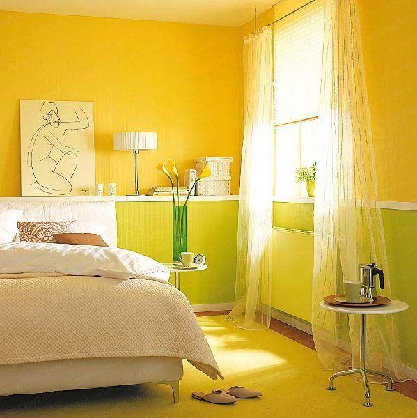 Желтый цвет в дизайне и декоре