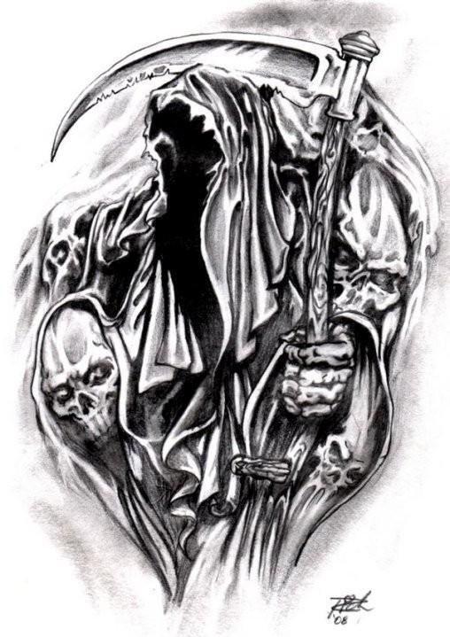 grim reaper tattoo designs madscar grim reaper pinterest reaper tattoo grim reaper. Black Bedroom Furniture Sets. Home Design Ideas