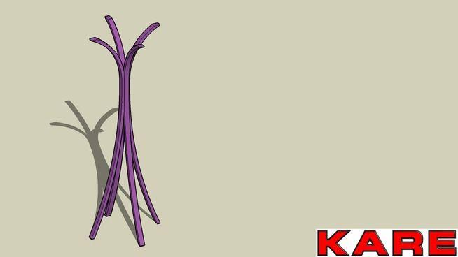 KARE 75337 Coat Hanger Libra Purple (Garderobenstander Libra Purple) - 3D Warehouse