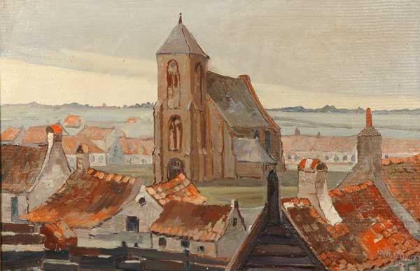 Albertus Verhorst werd in 1879 geboren in Enkhuizen. Hij was in het bezit van een opleiding akte tekenen. Daarna vormde hij zichzelf. Hij woonde en werkte in Haarlem, Beverwijk, Velsen en vanaf 1910 in Heemstede. Hij was schilder, aquarellist, tekenaar en zijn onderwerpen waren landschappen, stadsgezichten, stillevens en kerkinterieurs. Zijn werken kenmerken zich door een eigen kleurgebruik.