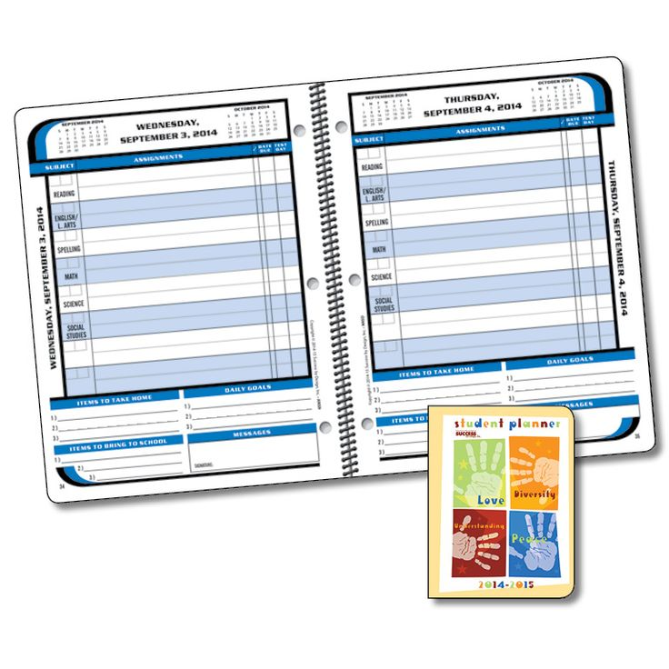 dated assignment notebook  designed to help students