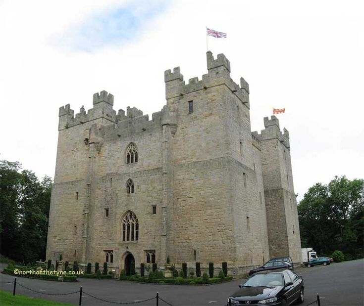 Langley Castle  (UK) A very impressive building. Probably the finest tower-house in Northumberland. Built by the de Lucy family before 1368 (1350) Restored by Cadwaller Bates after 1882.
