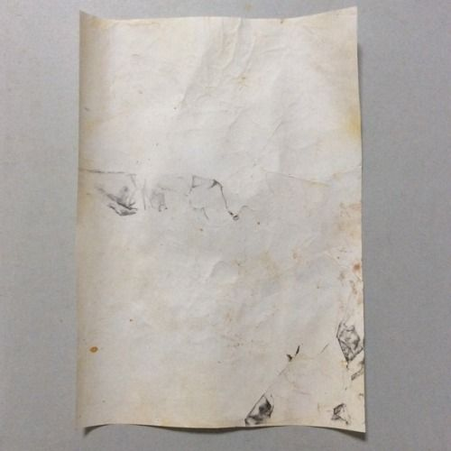"""Voidscape"", 2017 [about] 297x210mm rust, pencil on paper"
