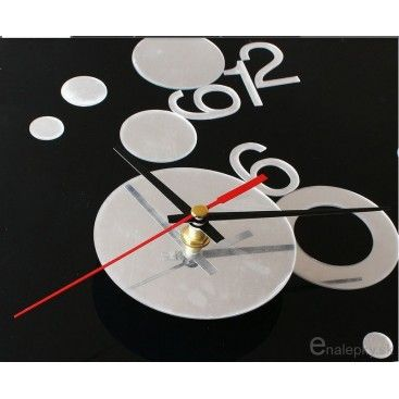 Samolepiace nástenné hodiny - kruhy