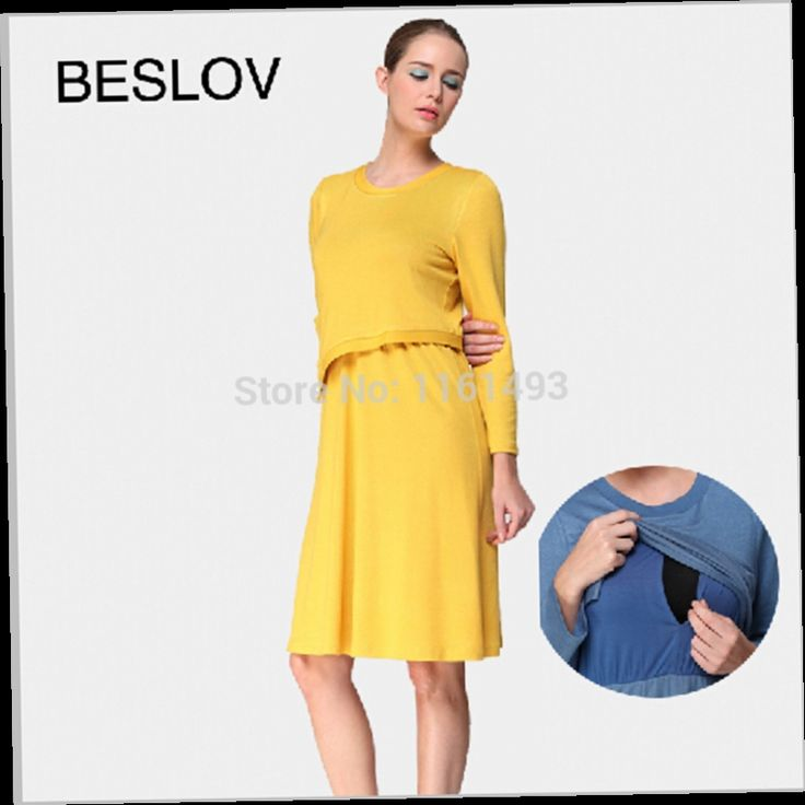 54.27$  Watch here - http://alivim.worldwells.pw/go.php?t=2029284497 - New Comfortable Baby Nursing  Dress For Winter/Autumn Maternity Clothing For Pregnant Roupas Gestantes Verao 54.27$