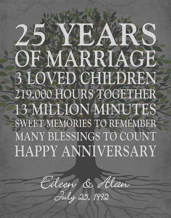 25th Wedding Anniversary Gifts Pinterest