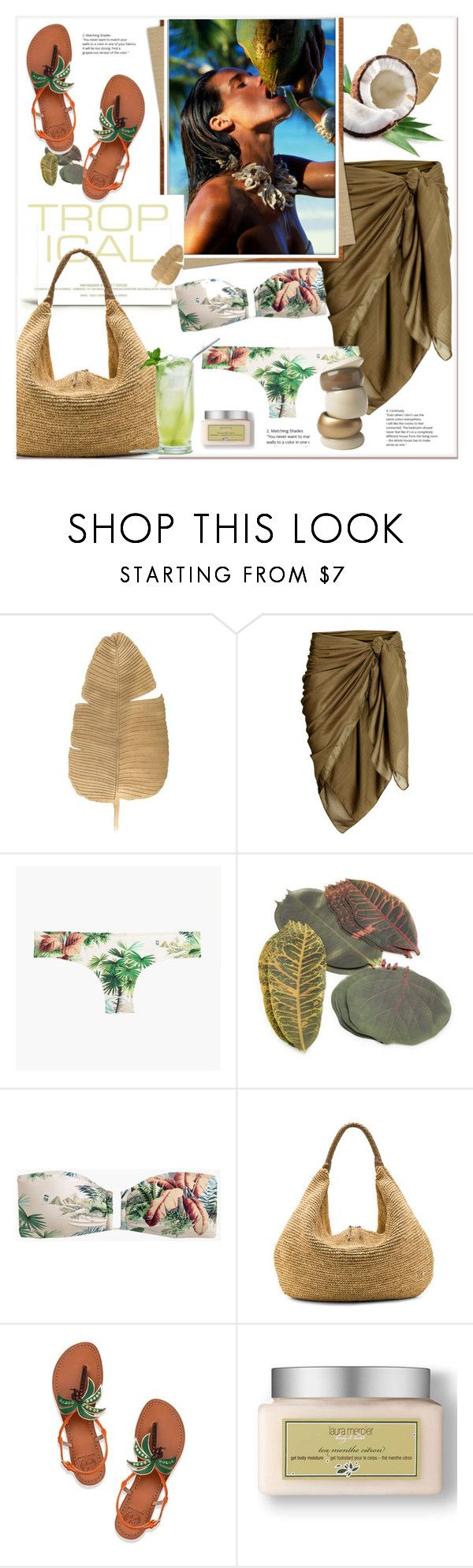 """#tropicalvacation"" by stylemeup-649 ❤ liked on Polyvore featuring J.Crew, Sur La Table, House of Fraser, Flora Bella, Tory Burch and Laura Mercier"