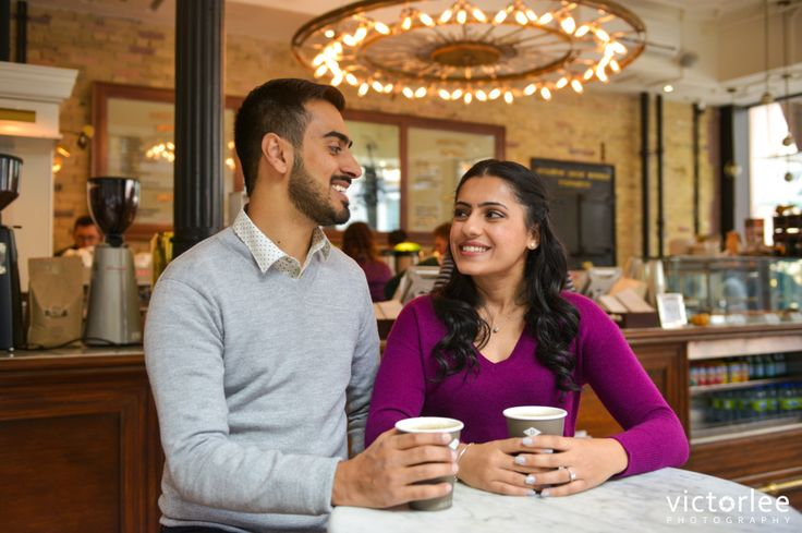 Dineen Coffee shop engagement session in Toronto.